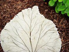 cement leaf birdbath tutorial