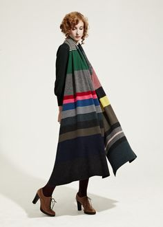 Multi colour shawl.  J.Gordon.