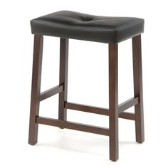 Oh Home Curved Seat Backless Stationary Bar Stool Home Saddle Bar