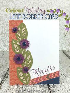 Cricut Artistry Leaf border card