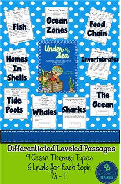 Under the Sea: CCSS Aligned, Ocean Themed, Leveled Passages and Activities A-I Guided Reading, Teaching Reading, Close Reading, Leveled Reading Passages, Reading Comprehension, Reading Centers, Reading Workshop, Science Classroom, Elementary Science