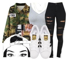 """SiAngie"" by brxxklyn-xo ❤ liked on Polyvore featuring Escalier, adidas Originals, MAC Cosmetics, G-Shock and Charlotte Russe"