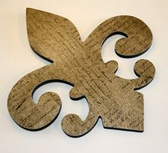 Burlap decor Fleur de lis decor  Burlap by FinchnWillowBoutique, $17.00