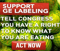 Congress just passed an act that does not require the labeling of GMO foods. Tell your state representatives to speak up for us.