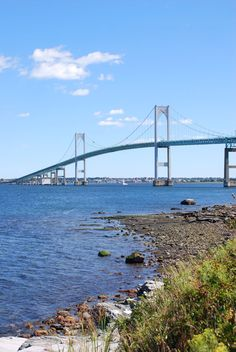 Pell Bridge over to Newport, RI (Many people refer this as the Newport Bridge also, however that is on reference to where it leads to).