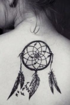 dream catcher tattoo (different placement)