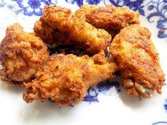 Recept na Kuřecí křídla à la KFC - naložené den dopředu, 2x smažené