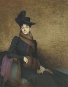 Jules Lefebvre - Portrait d'Yvonne (1901)