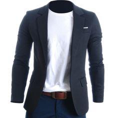 FLATSEVEN Mens Slim Fit Casual Premium Blazer Jacket (BJ102)