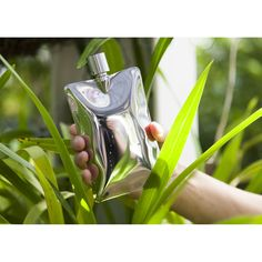 Areaware | Liquid Body Flask | Stainless, Matte Black, $99