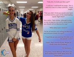 Image result for Forced Feminization Captions Cheerleader