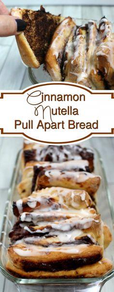 Cinnamon nutella pull apart bread