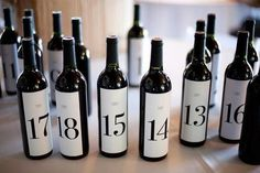 Inspiration for a wedding gift.  Give the bride and groom bottles of wine labeled with a number, each number represents the anniversary year (ex. 1, 5, 10, 20...) they can enjoy it on. The wine will get better with age, just like their love.  @Andrew Pisha