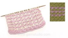How to knit the flowerpattern - Daisy.