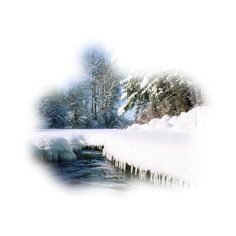 paysages ❤ liked on Polyvore featuring winter, snow, christmas, tubes and landscape