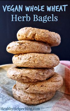 Vegan Whole Wheat Herb Bagels : healthyhelperblog