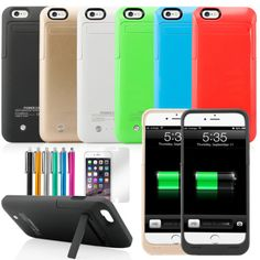 Highqualiiphone 6 case power bank Portable Battery Charging External Battery Backup Power Bank Case Cover For iPhone Iphone 6, Iphone Cases, External Battery Charger, Lg Phone, Portable Battery, Iphone Models, 6 Case, Protective Cases, Cover