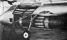 Close-up detail view of the Messerschmitt Me P.1101 V1 prototype.