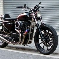 2002 XLH1200S Cafe Racer by Tramp Cycles