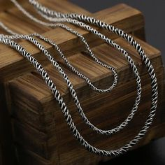 "Sterling Silver Rope Chain 16""-24"""