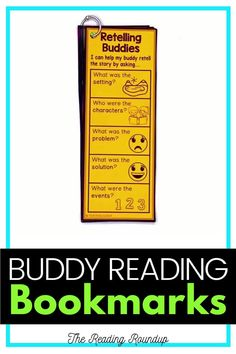 Is your Daily 5 Buddy Reading Center as effective as you'd like for it to be? These reading buddies bookmarks are guaranteed to lead to more student engagement. Elementary students can practice decoding unknown words, answering comprehension questions, making connections, and retelling stories with these bookmarks. Reading response sheets are also available for additional accountability. A must-have for your reading workshop! #thereadingroundup #literacycenters #readingbuddies Teaching Reading Strategies, Guided Reading Activities, Guided Reading Groups, Comprehension Strategies, Reading Centers, Reading Workshop, Student Reading, Reading Resources, Literacy Centers