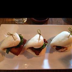 Pork belly & hard-boiled egg dumpling - Bachi Burger