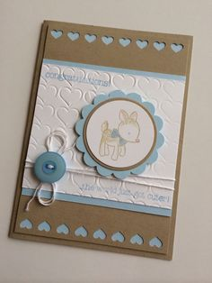 Made With Love, Baby card, Stampin Up