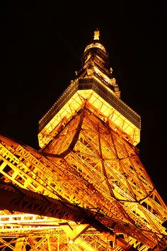 This is titled Tokyo Tower, but it looks like the Eiffel Tower.