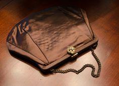 Vintage 60s Chocolate Brown Satin Vintage by GypsyThreadVintage, $45.00