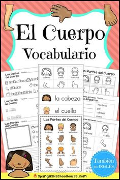 Awesome collection of Spanish Vocabulary printables for Spanish Preschool, Spanish Immersion Kindergarten, and Elementary Spanish. Browse by resource or theme! Learning Spanish For Kids, Spanish Lessons For Kids, Spanish Teaching Resources, Spanish Basics, Spanish Lesson Plans, Spanish Activities, Listening Activities, Learn Spanish, Learning Italian