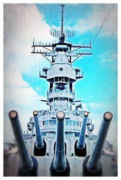16 inch guns, USS Missouri, could shoot munitions weighing as much as a Volkswagen, for several miles.