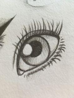 Klicke um das bild zu sehen ojos a lapiz en 2019 art sketches, drawings y p Easy Eye Drawing, Eye Drawing Tutorials, Realistic Eye Drawing, Eye Sketch Easy, Drawing Techniques, How To Sketch Eyes, How To Draw Eyes, Things To Sketch, Learn To Draw
