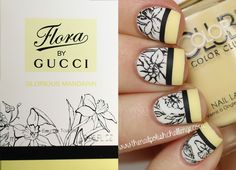 Gucci Floral Nail Art with Live Love Polish
