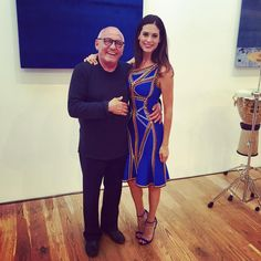 With the one and only @maxazria. At the @BcbgMaxazria & @HerveLeger collection preview.