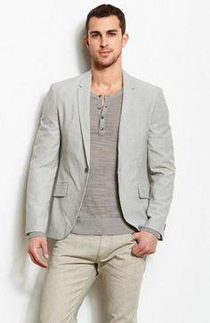 Striped Dress Blazer - Jackets & Blazers - Mens - Armani Exchange