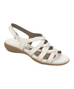 Look at this Natural Soul by Naturalizer White Cadiva Leather Sandal on #zulily today!