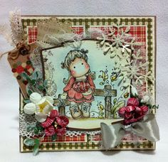 Tilda with Christmas heart, Magnolia stamps