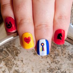 """For some extra luck at the horse show! This awesome """"champion"""" nail decal set is a must-have for any equestrian."""