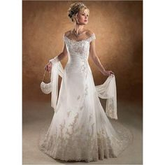 2015 A-line Off the shoulder Lace Modeat Wedding Gown Auckland In New Zealand (TWD2015-001) Wedding Dresses Auckland