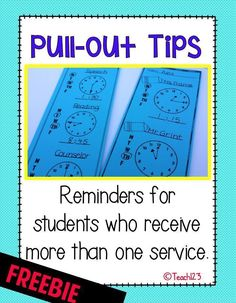 Classroom Pull-outs: Tips and a FREEBIE - Tuesday Teacher Tip #Teach123