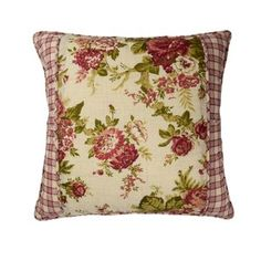 Transform your room into a blooming garden with the Waverly Norfolk Reversible Quilt Set. Featuring a gorgeous display of cabbage roses and reversing to a gingham plaid in hues of crimson and cream, this beautiful set will give your space classic charm. Norfolk, Throw Pillow Sets, Throw Pillows, Accent Pillows, Waverly Bedding, Cabbage Roses, Contemporary Quilts, Floral Throws, Tea Stains