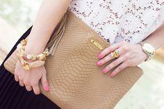 GiGi New York | Miami Beauty Girl Fashion Blog | Sand Uber Clutch