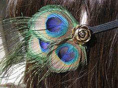 Peacock Hairpiece @morganvelez you need this!!!