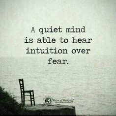 The main lesson in life. Learn to listen to everything. A lack of specific words & actions are the sign.