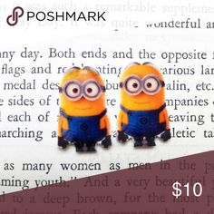 Minion Earrings Handmade Minion earrings.   -Metal Posts -Nickel-Free -Plastic face   Price Firm  No Trades  Jewelry Earrings