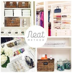NEAT Method :: organized laundry room, pottery barn, organized closet, organized jewelry