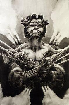 Steampunk Wolverine by midnightINK  #xmen #comics