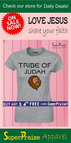 0cca262b The Lion of The Tribe Of Judah Christian Jesus Christ Religious Women T  Shirt