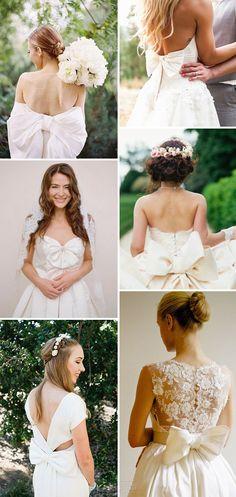 Beautiful Bow Wedding Dresses   www.onefabday.com