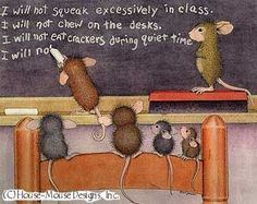 """""""Monica, Mudpie, Maxwell and Amanda"""" from House-Mouse Designs®"""